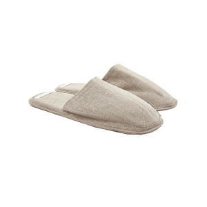 Medium fog linen   slippers