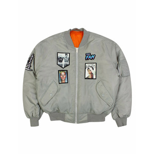 Medium the fan grey bomber