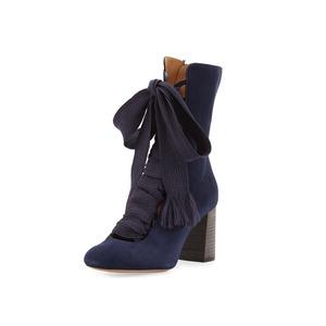 Medium chloe  blue shoes harper lace up
