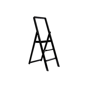 Medium design house stockholm step ladder by karl malmvall   black lacquer the line nyc