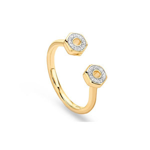 Medium missoma double screw diamond ring