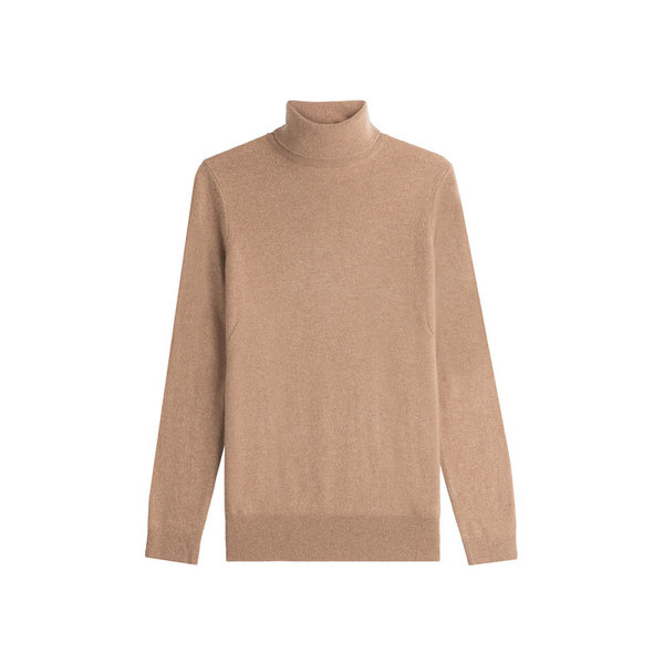 Large camel turtleneck