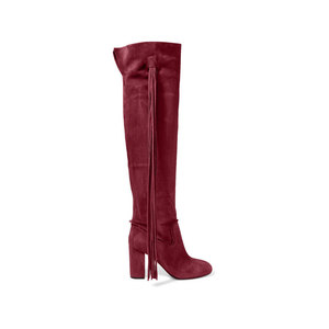 Medium aquazzura tasseled suede over the knee boots