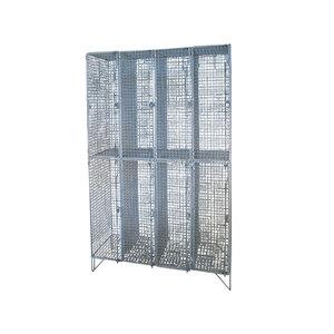 Medium 1st dibs set of vintage french steel lockers