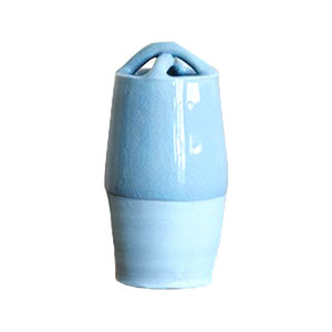 Medium bluegreen celadon crossed vase matthias kaiser garden edit