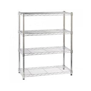 Medium chrome wire shelving unit   4 shelves  h900 x w750 x d350 mm shop fitting warehouse