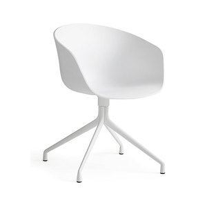 Medium hay about a chair aac20 white shell  white base