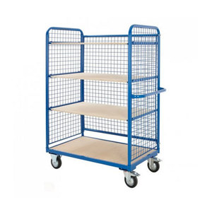 Medium heavy duty shelf trolley   500kg load capacity  h1320 x w1780 x d700mm shop fitting warehouse