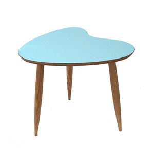 Medium petal side table aqua curvalinea clippings 1381771