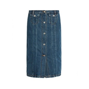 Medium acne garea cotton blend denim skirt