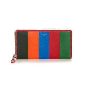 Medium balenciaga bazar zip around leather continental wallet