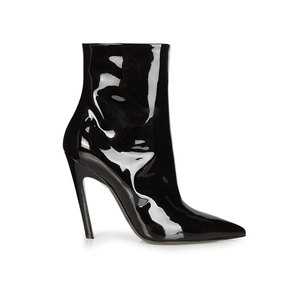 Medium balenciaga slant heel patent leather boots