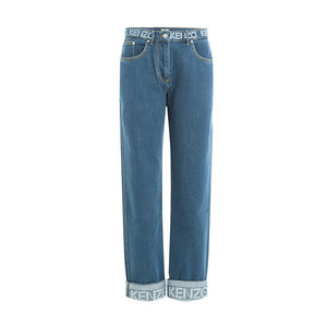 Medium kenzo cropped jeans with logo stylebop