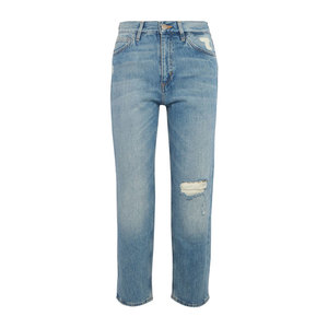 Medium m.i.h jeans jeanne cropped distressed straight leg jeans netaporter