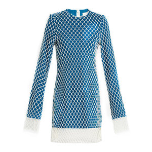 Medium matches marques almeida layered net and wool mini dress