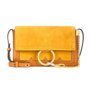 Medium chloe faye small suede and leather crossbody bag