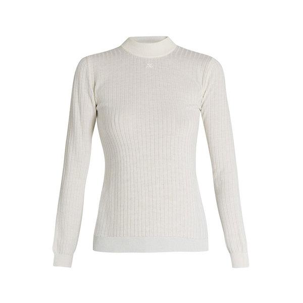 Large courreges knit sweater