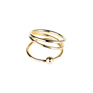 Medium maria black helix trapez ring high polished gold