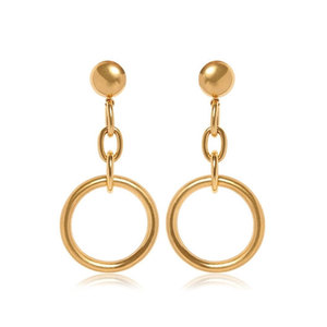 Medium marni circle gold colored brass clip earrings luisviaroma