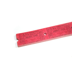 Medium 100 vintage theatre tickets   red etsy