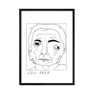 Medium badly drawn celebs badly drawn lou reed etsy