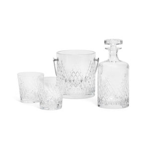 Medium sohohome barwell cut crystal deluxe whisky set
