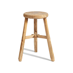 Medium intage stool  large round