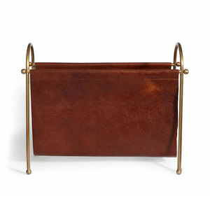 Medium sohohome leather magazine rack