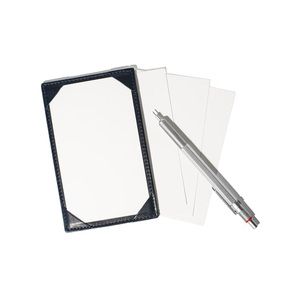 Medium man of the world leather jotter with blank paper alt5 grande
