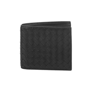 Medium matches bottega veneta intrecciato bi fold leather wallet