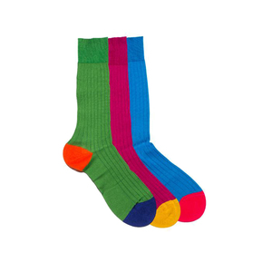 Medium man of the world socks pantherell egyptian cotton lisle multi colored socks grande