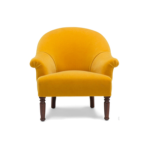 Medium spoon armchair  cumin mohair