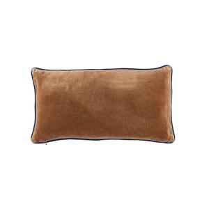Medium the conran shop piped velvet rectangular cushion cover brown   cobalt 1