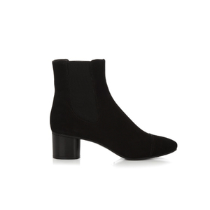 Medium matches isabel marant danae block heel suede ankle boots copy