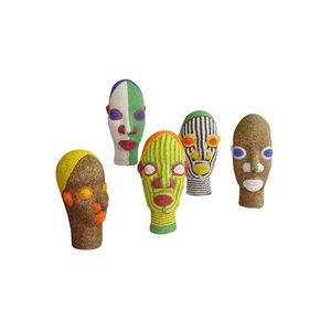 Medium 1st dibs african beaded heads