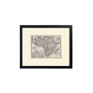 Medium 1st dibs matthew seutter hand colored map of africa  circa 1744