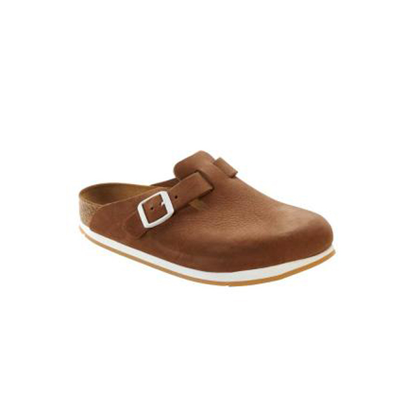 Large birkenstock boston soft footbed nubuck softy brown
