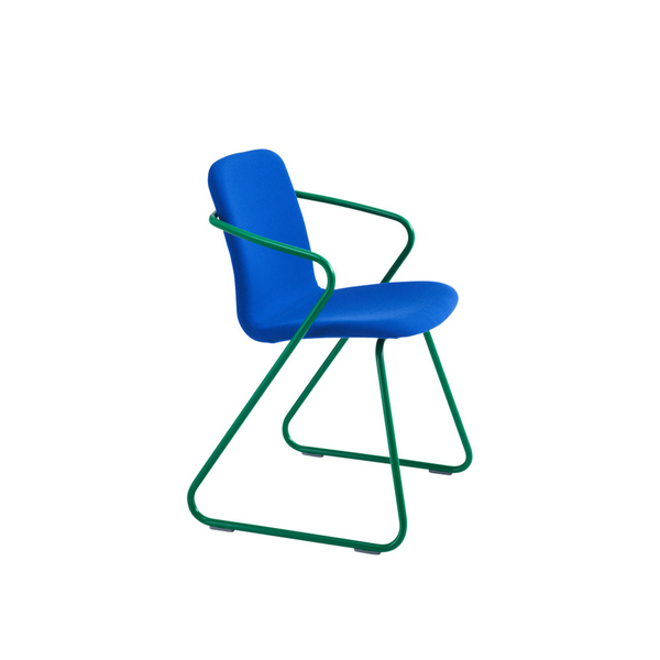 Large clippings cobra upholstered dining chair blue and mint green adolfo abejon adolfo abejon clippings 1356061