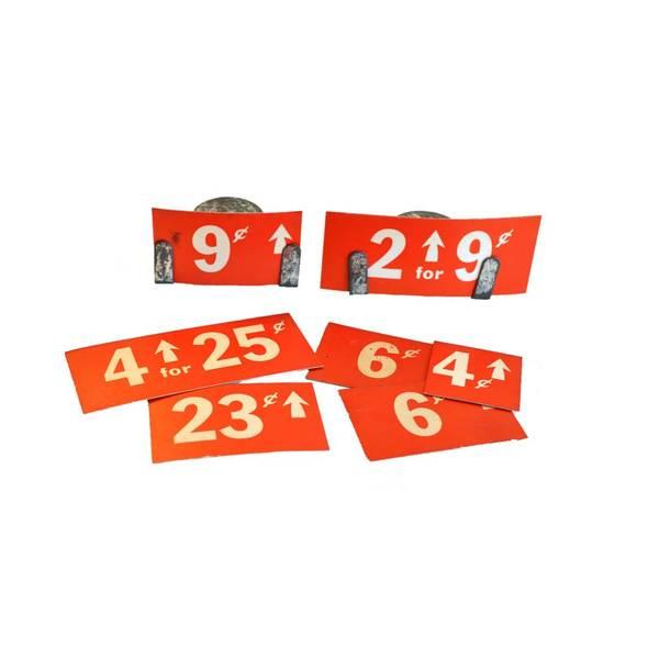 Large display stand price tag ephemera