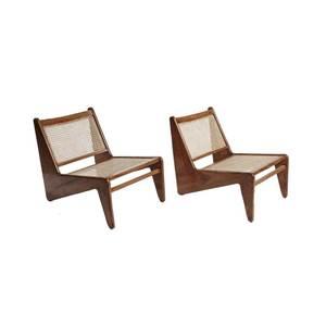 Medium kangaroo chairs by pierre jeanneret