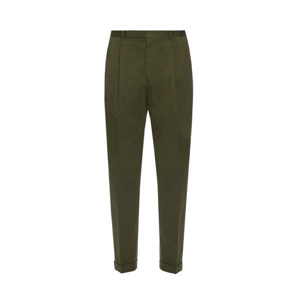 Large paul smith pleated front cotton trousers
