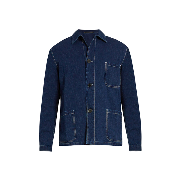 Large paul smith contrast stitch seersucker jacket