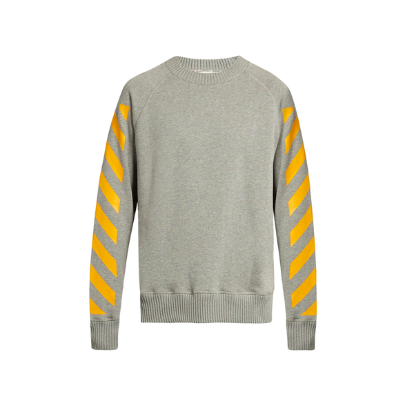 Large moncler o maglia striped cotton matches sweatshirt