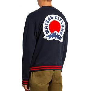 Medium maison kitsun  mount fuji appliqu  cotton bomber jacket matches