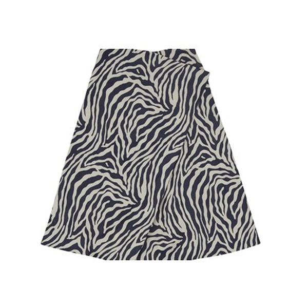 Large finery minerva zebra jacquard skirt