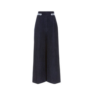Medium peter pilotto navy velvet pinstripe culottes