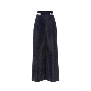 Medium peter pilotto navy velvet pinstripe culottes