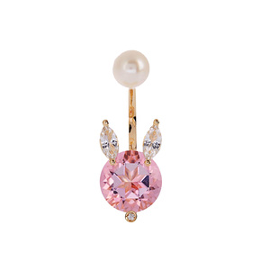 Medium delfina delettrez  diamond  topaz  pearl   yellow gold earring