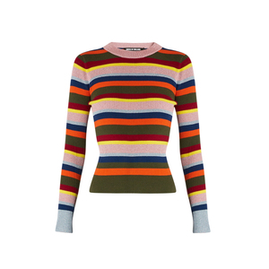 Medium house of holland striped merino   woll blend sweater