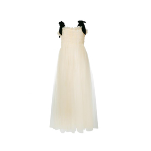 Medium molly goddard velvet strap tulle  dress   browns